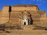 Mingun Pagoda, Gigantic and Unfinished, Mingun, Myanmar, Asia Photographic Print by Upperhall Ltd