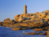 Lighthouse and Pink Granite Rocks at Sunset, Ploumanach, Cotes d'Armor, Brittany, France, Europe Photographic Print by Ruth Tomlinson