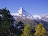 The Matterhorn Mountain 4478M), Valais (Wallis), Swiss Alps, Switzerland, Europe Photographic Print by Hans Peter Merten