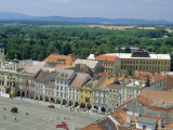 Main Square from Black Tower, Ceske Budejovice, South Bohemia, Czech Republic, Europe Photographic Print by Upperhall Ltd