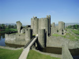 Caerphilly Castle, Glamorgan, Wales, UK, Europe Photographic Print by Adina Tovy