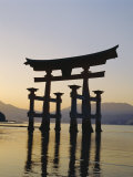 Great Torii, Itsukushima Shrine, Akini Miyajma, Japan Photographic Print by Adina Tovy