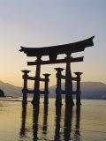 Great Torii, Itsukushima Shrine, Akini Miyajma, Japan Photographic Print by Adina Tovy