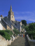 The Brelevenez Church and Steps, Lannion, Cotes d'Armor, Brittany, France, Europe Photographic Print by Ruth Tomlinson