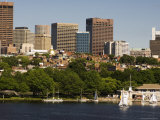 Beacon Hill and City Skyline Across the Charles River, Boston, Massachusetts, USA Photographic Print by Amanda Hall