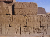 Heiroglyphic Carvings, Bajrawiya, the Pyramids of Meroe, Sudan, Africa Photographic Print by Jj Travel Photography