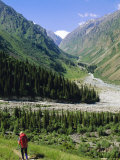 Tien Shan Mountains, Ala Archa Canyon, Kyrgyzstan, Central Asia Photographic Print by Upperhall Ltd