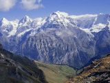 Eiger, Monch, Jungfrau Mountains, Bernese Oberland, Swiss Alps, Switzerland, Europe Photographic Print by Andrew Sanders