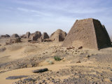 Bajrawiya, the Pyramids of Meroe, Sudan, Africa Photographic Print by Jj Travel Photography