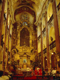 Church of St.Kames, Nave, Prague, Czech Republic, Europe Photographic Print by Upperhall Ltd