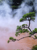 Blood Pond Hell (Chinoike Jigoku), Natural Hot Springs (Onsen), Beppu, Kyushu, Japan Photographic Print by Steve Bavister