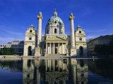 Karlskirche, Vienna, Austria, Europe Photographic Print by Hans Peter Merten