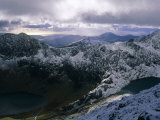 Snowdon Mountain and Surrounding Ridges, Snowdonia National Park, Gwynedd, Wales, UK, Europe Photographic Print by Duncan Maxwell