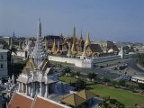 General View and Skyline, Grand Palace, Bangkok, Thailand, Asia Photographic Print by Adina Tovy