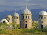 Traditional Kirghiz Cemetary, Near Burana Tower, Kyrgyzstan, Central Asia Photographic Print by Upperhall Ltd