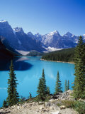 Lake Moraine, Valley of the Ten Peaks, Banff National Park, Alberta, Canada Photographic Print by Hans Peter Merten