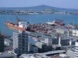 View Over Waterfront, Auckland, Central Auckland, North Island, New Zealand, Pacific Photographic Print by Adina Tovy