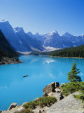 Valley of the Ten Peaks, Lake Moraine, Rocky Mountains, Banff National Park, Alberta, Canada Photographic Print by Hans Peter Merten