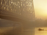 The Howrah Bridge Over the Hugli River, Calcutta, West Bengal, India Photographic Print by Duncan Maxwell