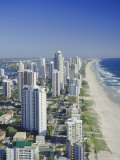 Aerial View of Surfers Paradise, the Gold Coast, Queensland, Australia Photographic Print by Adina Tovy