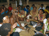 Villagers Singing at Cava Evening, Waya Island, Yasawa Group, Fiji, South Pacific Islands, Pacific Photographic Print by Julia Bayne