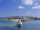 View from Sea to the Walled Town (Intra Muros), St. Malo, Ille-Et-Vilaine, Brittany, France, Europe Photographic Print by Ruth Tomlinson