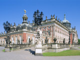 The New Palace in the Park Sanssouci, Potsdam, Brandenburg, Germany, Europe Photographic Print by Hans Peter Merten