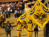 The Palio, Standard Bearers of the Aquila (Eagle) Contrada, Siena, Tuscany, Italy, Europe Photographic Print by Ruth Tomlinson