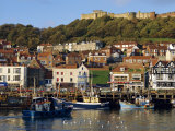 Scarborough, Harbour and Seaside Resort with Castle on the Hill, Yorkshire, England Photographic Print by Adina Tovy