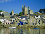 Waterfront at Fowey, Cornwall, England, UK Photographic Print by Julia Bayne
