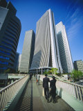 Financial District, Tokyo, Japan Photographic Print by Steve Bavister