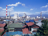 Industrial Complex of Paper Mill and City Skyline, Yoshiwara, Japan, Asia Photographic Print by Ursula Gahwiler