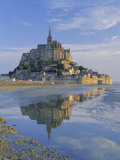 Mont St. Michel (Mont Saint-Michel) Reflected in Water, Manche, Normandy, France, Europe Photographic Print by Ruth Tomlinson