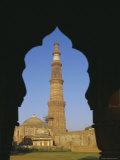 Qutb Minar, Delhi, India, Asia Photographic Print by Adina Tovy