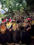 Kalash Women, Rites of Spring, Joshi, Bumburet Valley, Pakistan, Asia Photographic Print by Upperhall Ltd