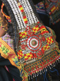 Close-up of a Woman's Headdress, Kalash Ku'Pa, Joshi (Spring Festival), Bumburet Valley, Pakistan Photographic Print by Upperhall Ltd