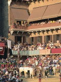 The Opening Parade of the Palio Horse Race, Siena, Tuscany, Italy, Europe Photographic Print by Upperhall Ltd