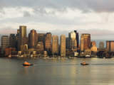 The Skyline of the Financial District Across Boston Harbor at Dawn, Boston, Massachusetts, USA Photographic Print by Amanda Hall