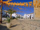 Town Square with Streamers in Regional Colours, Altea, Alicante, Valencia, Spain, Europe Photographic Print by Ruth Tomlinson