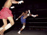 Burmese Boxing, No Kicks or Punches Barred, Mandalay, Myanmar (Burma), Asia Photographic Print by Upperhall Ltd