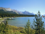 Maligne Lake, Jasper National Park, Rocky Mountains, Alberta, Canada Photographic Print by Hans Peter Merten