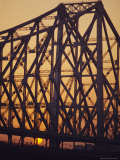Detail of the Howrah Bridge, Calcutta, West Bengal, India Photographic Print by Duncan Maxwell