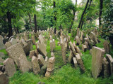 Old Jewish Cemetery, Josefov, Prague, Czech Republic, Europe Photographic Print by Upperhall Ltd