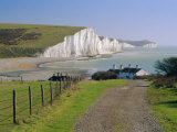 View to the Seven Sisters from Seaford Head, East Sussex, England, UK Photographic Print by Ruth Tomlinson