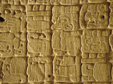 Mayan Carvings on Stela, Tikal, Guatemala, Central America Photographic Print by Upperhall Ltd