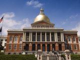 The Massachusetts State House, 1798, Designed by Charles Bulfinch, Boston, Massachusetts, USA Photographic Print by Amanda Hall