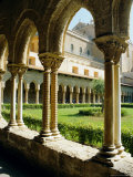 12th Century Norman Architecture, Cathedral Cloisters, Monreale, Sicily, Italy, Europe Photographic Print by Firecrest Pictures