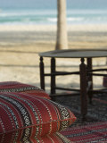 Arabian Cushions on the Beach, Dubai, United Arab Emirates, Middle East Photographic Print by Amanda Hall