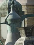 Old Arabian Coffee Pot and Jars, Dubai, United Arab Emirates, Middle East Photographic Print by Amanda Hall