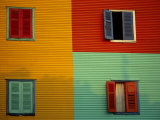 Colourful Buildings in La Boca District, Buenos Aires, Argentina Photographic Print by Louise Murray